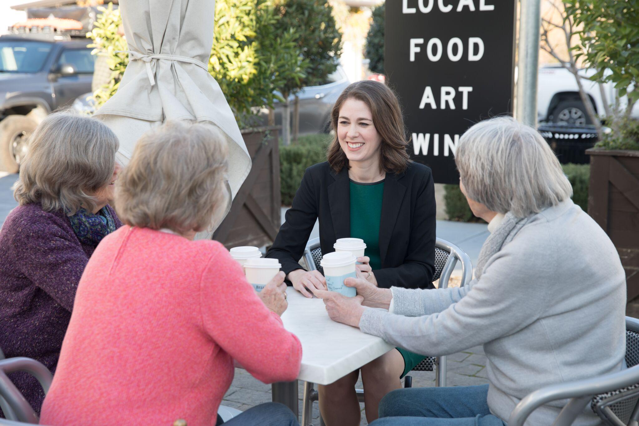 Having coffee with seniors_web